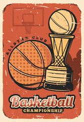 Basketball sport league cup, championship
