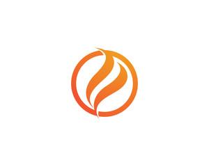 Fire logo vector template