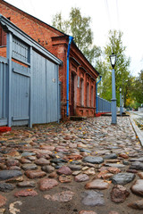 Vitebsk, Belarus-October 6,2018: Marc Chagall Museum House  in Pokrovskaya Street on the right bank of the Western Dvina River, where the artist spent his childhood and adolescence in the early 1900