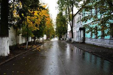 Vitebsk, Belarus-October 6,2018:  Pokrovskaya Street on the right bank of the Western Dvina River, where Marc Chagall spent his childhood and adolescence in the early 1900