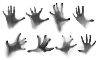 Set of shadow hands