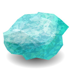Aquamarine. Precious stone, gemstone, mineral. Translucent raw piece of stone. Texture of layers and facets of stone. Geology mining science jewelry