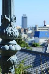 神戸・北野町の公園の柱から