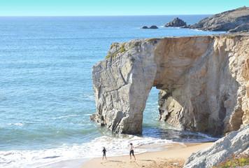Arche du port blanc, wild coast, Quiberon, Bretagne, France.