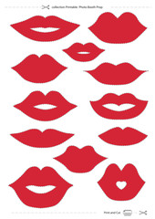 lips collection Printable Photo Booth Prop