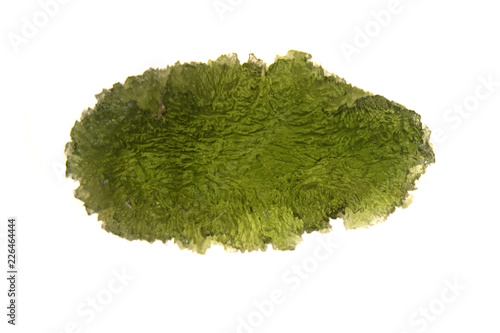 moldavite mineral isolated