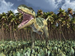 Dinosaurier Bistahieversor im Dschungel