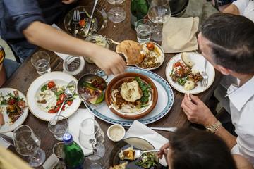 A restaurant in Jerusalem, Israel.