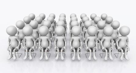 Publikum mit 3D Figuren