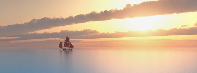 Segelboot in der Ferne