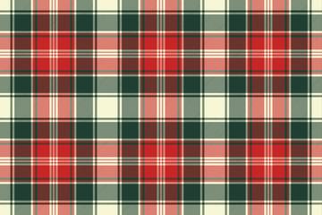 Fabric texture check plaid seamless pattern