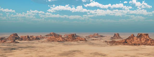 Wüstenlandschaft mit Hügeln