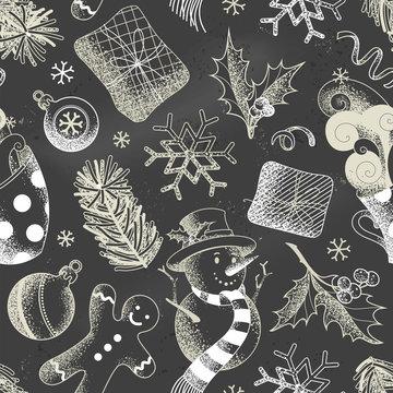 Vector Christmas seamless pattern.