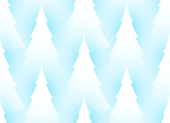 Winter Seamless Pattern with Fir Trees. Coniferous Forest. Christmas Decoration. Paper Art.