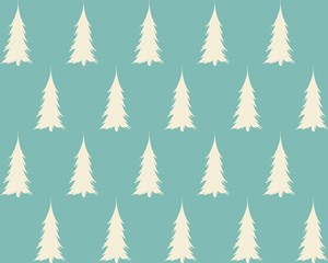 New Year Christmas winter holidays pattern with xmas tree