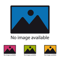 No Image Available Icon - Colorful Vector Illustration - Isolated On White Background
