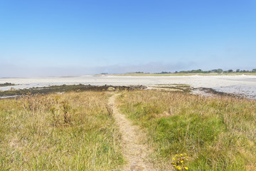 Footpath off the deserted island