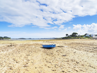 Beached at low tide