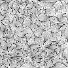 Black and white background of triangles in the style of Zentangle