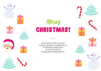 merry christmas template background vector