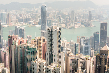 Hong Kong, a general view of the island