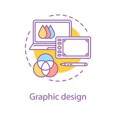 Computer graphic concept icon