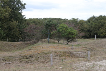 Rememberance place at the Waalsdorpervlakte in the dunes close to Den Haag where members of the resistance where killed during world war 2 by Germans