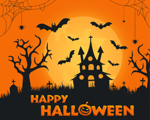 Scary happy halloween background