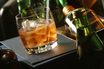 The Old Fashioned is made by whiskey and ice. It is traditionally served in a glass short, round, which is called an Old Fashioned. The Old Fashioned developed during the 19th century.
