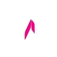 Abstract Letter A icon,sign,symbol.simple cute and creative modern flat design vector
