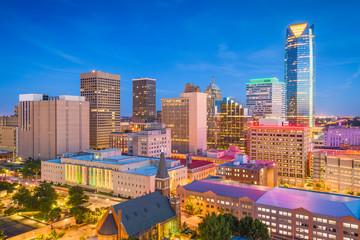 Fototapete - Oklahoma City, Oklahoma, USA Skyline