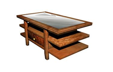 Bilder und videos suchen glastisch for Holztisch mit glasplatte