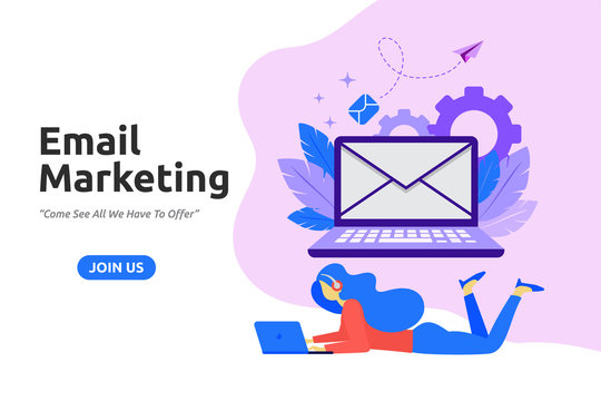 Modern flat design for Email marketing. Vector illustration