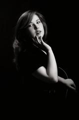 beautiful girl in the Studio