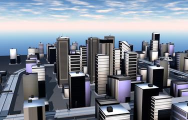 Skyline einer Metropole