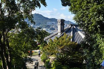 view of the Glover garden in Nagasaki, Kyushu, Japan