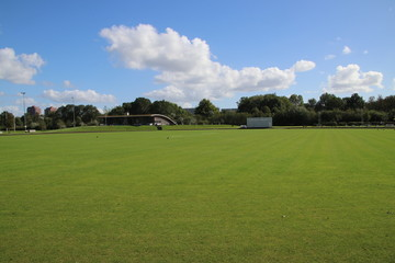 Cricket field at Sparta club in the Schollenbos forest in Capelle aan den IJssel .
