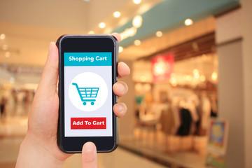 ファッションとスマートフォンとインターネットショッピング Fashion, smartphone and internet shopping