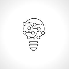 Электронная плата. Развитие, идея, усовершенствование. Векторный значок.