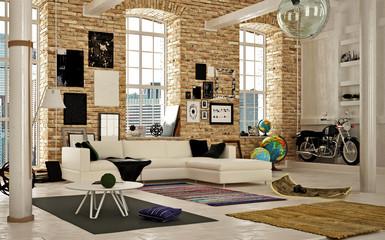 3d render of office interior