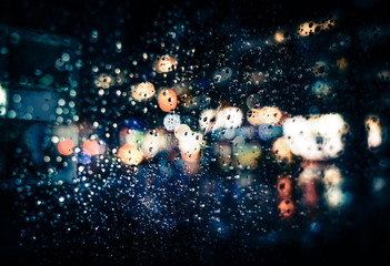 Rain in New York City Fotomurales
