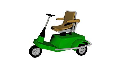 Grünes Behinderten Fahrzeug