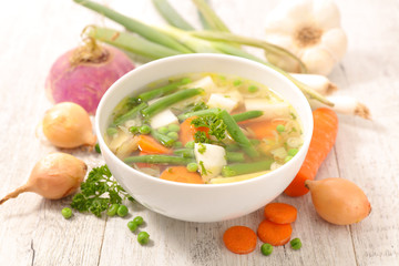 vegetable soup and ingredient