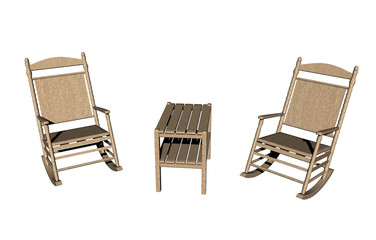 Sitzecke mit Tisch und Stühlen