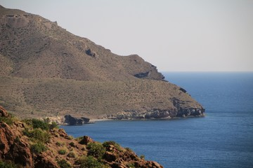 Cliffs and beaches in Cabo de Gata nature reserve, Almeria