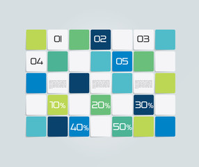 Table, schedule template. 3D business design.