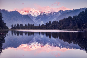 Sunset, Lake Matheson Wall mural