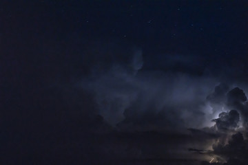 night thunderstorm with flashes