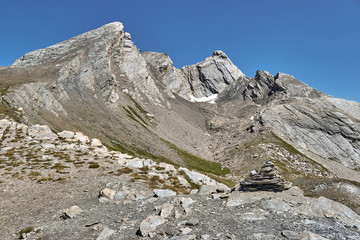 Col Agnel- mountain pass in the Cottian Alps, between France and Italy