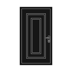 Vector design of door and front symbol. Collection of door and wooden stock symbol for web.